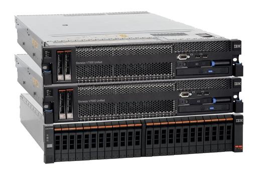 IBMs Speichersystem Storwize V7000 unterstützt jetzt auch Festplatten mit 4 Terabyte Kapazität. (Bild: IBM)