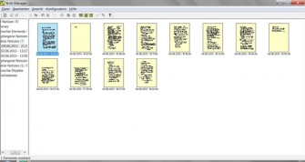 Mit dem Note Manager verwaltet und sortiert der Anwender die mit dem Aiptek-Stift erstellten Notizen und Skizzen.