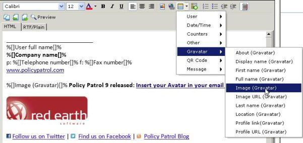Policy Patrol: Gravatar einfügen