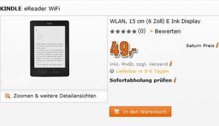 Saturn brings Kindle at the special price