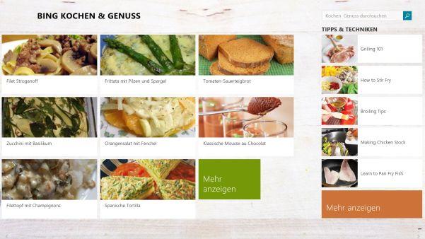 Kochen mit Bing
