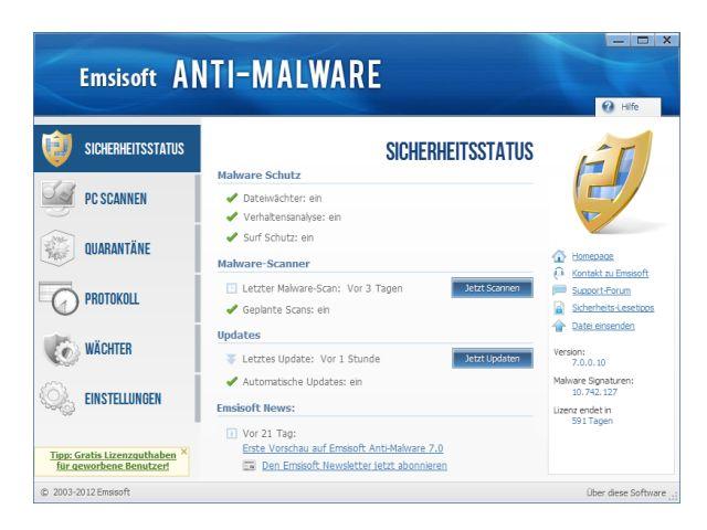 Emsisoft Anti Malware Status