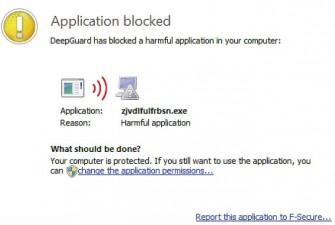 F-Secure Anwendungsbockierung