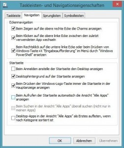 Navigation in Windows 8.1