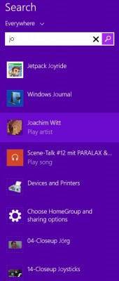 Windows 8,1 Suchergebnis