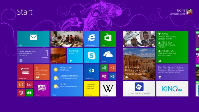 Windows 8.1 Personal Startscreen