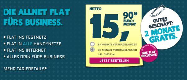 Yourfone.de Allnetflat Business