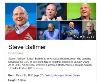 Steve Ballmer auf Google