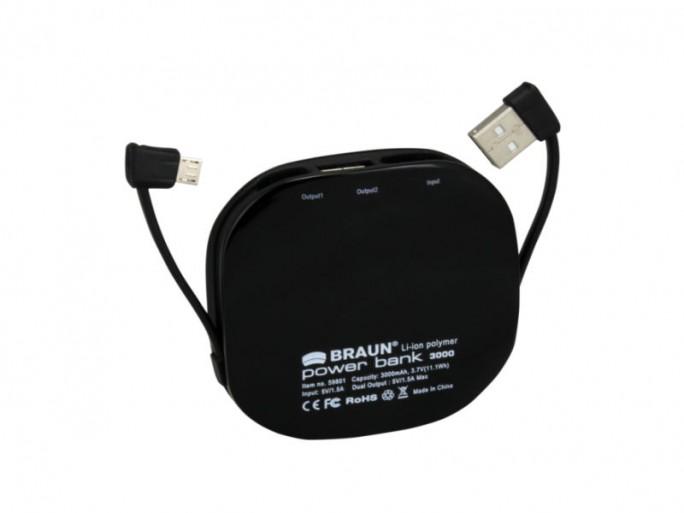 Braun Powerbank 3000 mah