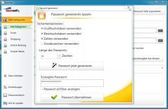 Secustar Passwortgenerierung