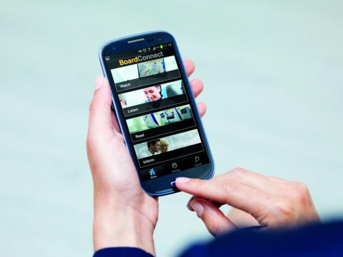 BoardConnect auf dem Smartphone