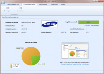 Checkdrive2014 Plus Status-Scren