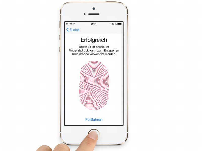 how to get touch id on iphone 5