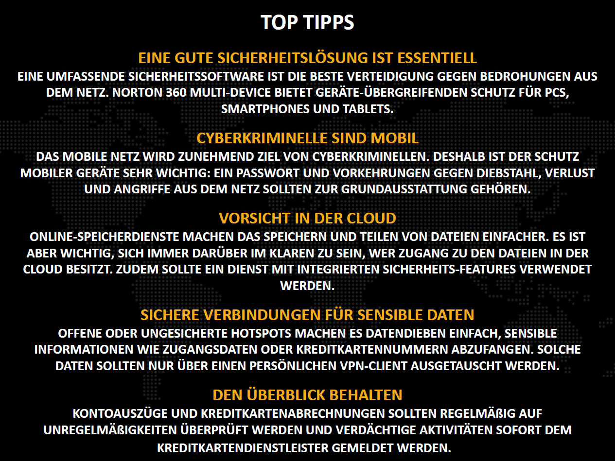 Norton Bericht 2013: 5 Tipps (Bild: Symantec)