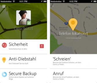 Avira Free Mobile Security soll iOS-Geräte vor Schadprogrammen und unautorisiertem Zugriff schützen (Bild: Avira).