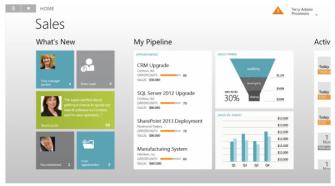 Dynamics CRM unter Windows 8 (Bild: Microsoft)