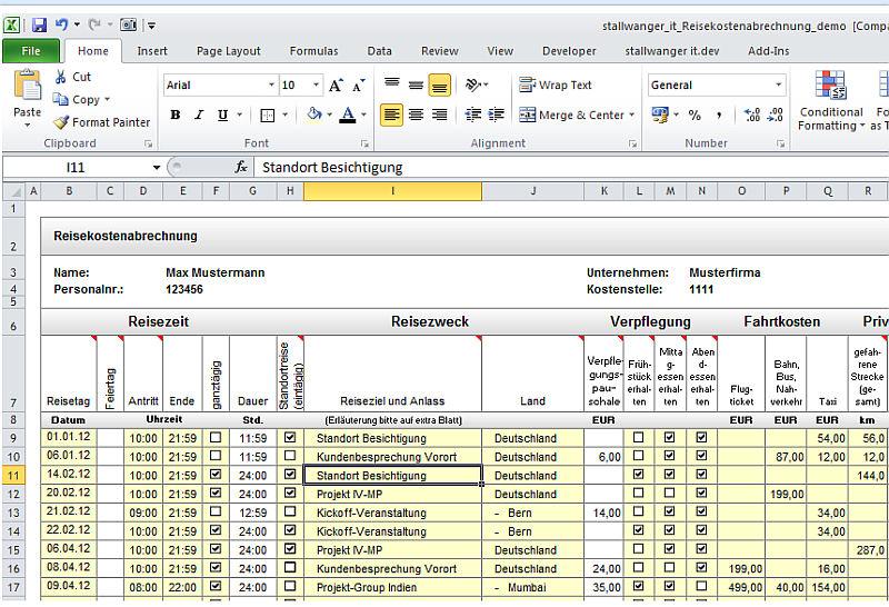 Excel Reisekosten Tool Erfasst Neue Regelungen Für 2014 Itespressode
