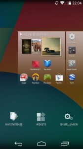Android Widgets und Homescreens in Android 4.4 (Bild: Christian Lanzerath)