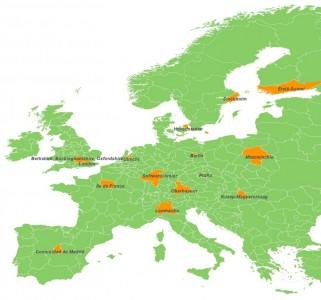 Für die Studie wurden europaweit 15 Softwarecluster untersucht. (Bild: www.softwareclusterbenchmark.eu)