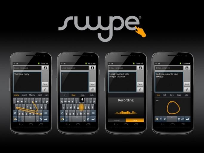 Die lernfähige Tastatur für Android Swype hat ein Update erhalten. (Bild: Nuance)