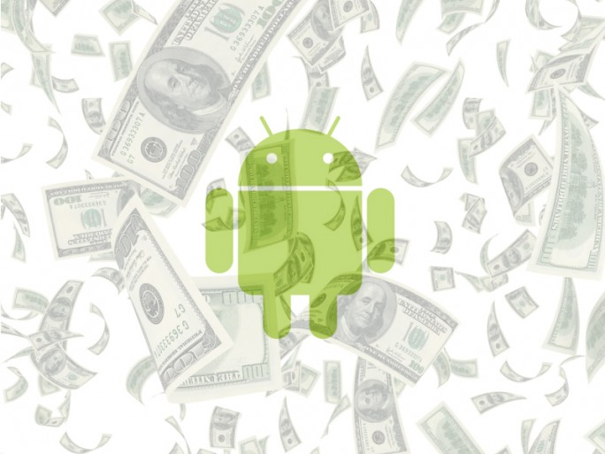 Android Geld (Bild: ITespresso mit Material von Shutterstock und Google).