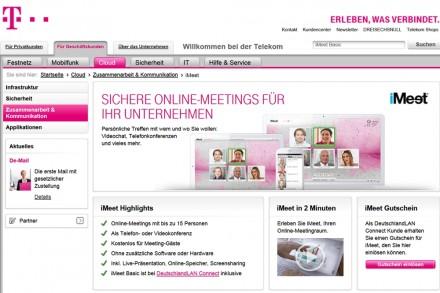 """Die Telekom vermarktet ihre Videokonferenz-Technik unter dem Schlagwort """"iMeet""""."""
