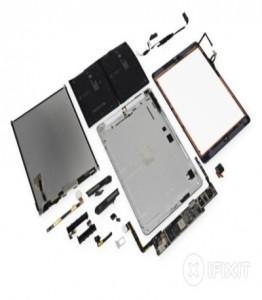 Das neue iPad Air in seine Einzelteile zerlegt (Bild: iFixit)