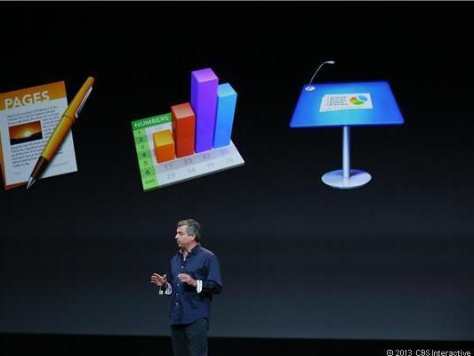 Apple hat die iWork-Anwendungen Pages, Spreadsheet und Keynote überarbeitet (Bild: James Martin / CNET).