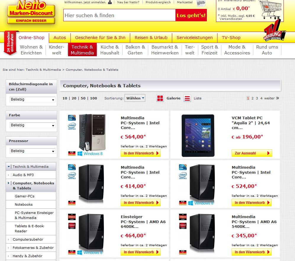 discounter netto hat online shop er ffnet. Black Bedroom Furniture Sets. Home Design Ideas
