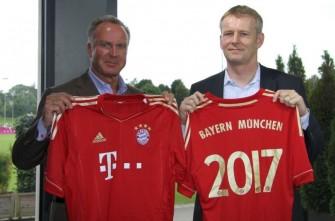 Karl-Heinz Rummenigge und Henning Stiegenroth (Bild: Deutsche Telekom AG)