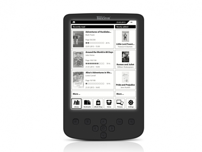 E-Book-Reader Pyrus 2 LED (Bild: Trekstor)