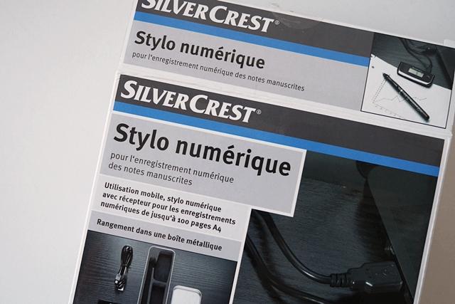 Die Packung des Silvercrest Digitalstifts ist wohl für den französischen Markt gedacht. (Foto: Mehmet Toprak)