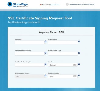 Certification-Request-Online-Hilfe