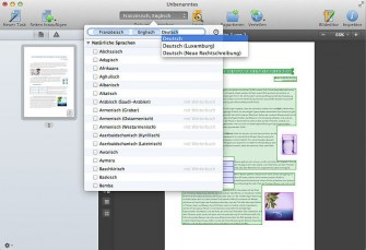 FineReader Pro for Mac Sprachauswahl