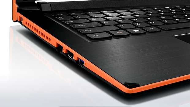 Edel: Die Handballenauflage des Lenovo-Notebooks ist aus gebürstetem Aluminium. (Foto: Lenovo)