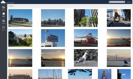 Das Web-Interface von ownCloud