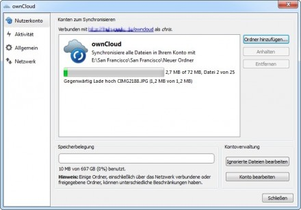 Windows Client von ownCloud