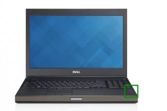 Das Precision-Notebook von Dell ist mit einem Fingerabdruckscanner gesichert (grünes Quadrat). (Foto: Dell)
