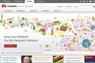 Huawei ist auch im Carrier-Geschäft