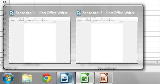 LibreOffice 4.2 Windows Taskbar