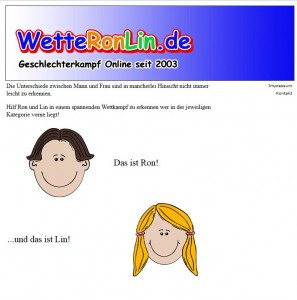 Screenshot der Typosquatting-Domain www.wetteronlin.de