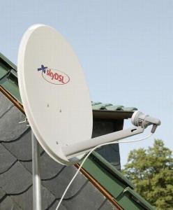 Internetanbindung via Satellit Bild: SkyDSL/Andy Küchenmeister)