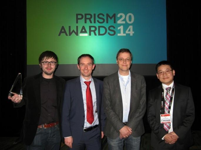 """Nanoscribe gewinnt den Prism Award 2014 in der Kategorie """"Advanced Manufacturing"""" . (Bild Nanoscribe)"""