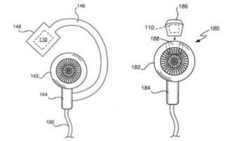 Apple will ein System zur Erfassung der Herzfrequenz und anderen Biometeriedaten in einem Kopfhörer unterbringen (Bild: Apple/USPO)