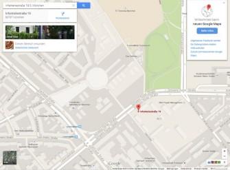 Die neue Oberfläche von Google Maps