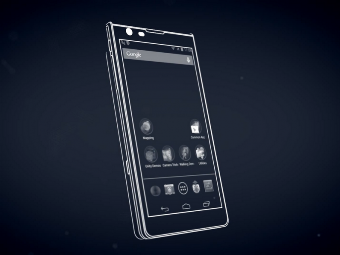"200 Prototypen hat Google von Project Tango produziert. Diese will es an professionelle Entwickler verteilen. (Screenshot: YoutTube-Video ""Say hello to Project Tango! "")"