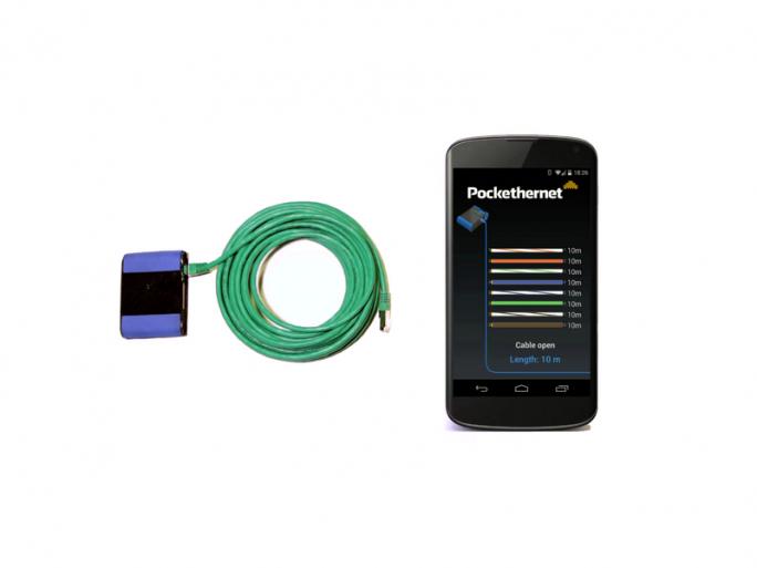 Mit Pokethernet lassen sich die Verbindungsqualität überprüfen und Kabelfehler aufspüren. (Bild: Pockethernet)