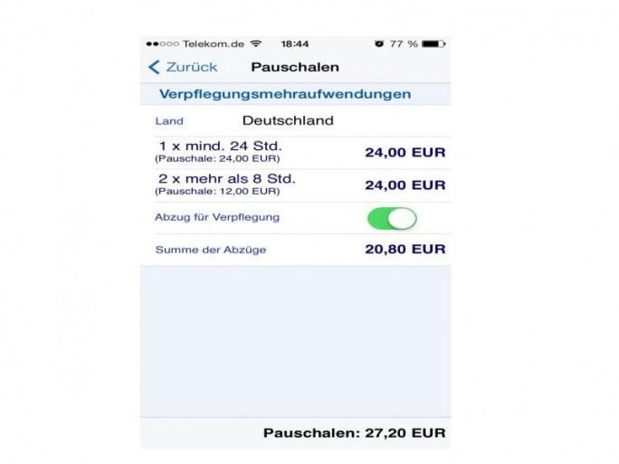 Reisekosten-App