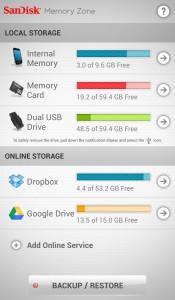 SanDisk-App Memory Zone für den Ultra Dual-USB-Drive