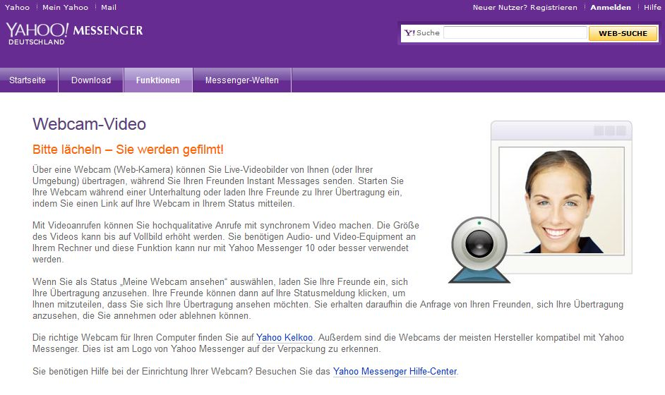 Yahoo live video chat yahoo messenger
